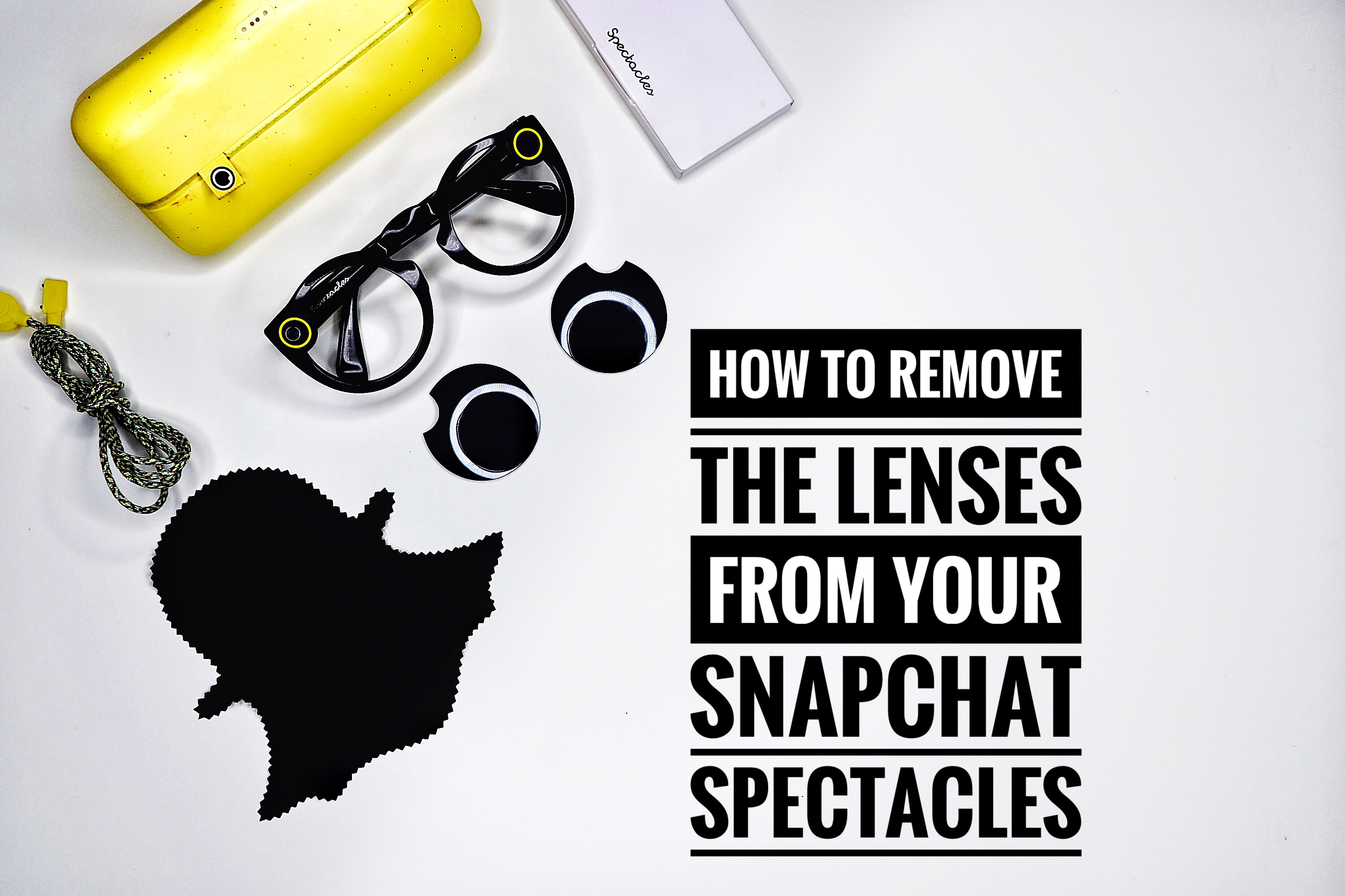 cb0a489f3f How to remove the lenses from your Snapchat Spectacles
